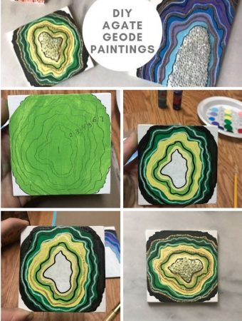 A Gorgeous Geode Acrylic Painting Tutorial To Unleash Your Inner Artist